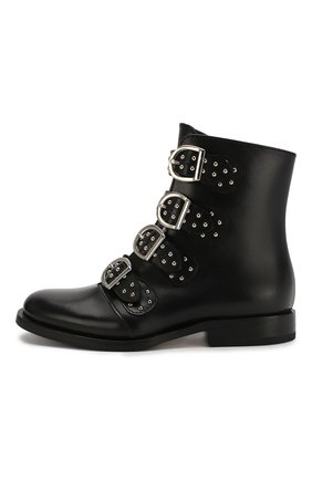 Детские кожаные ботинки GALLUCCI черного цвета, арт. J30064AM/TR P V CUG VSA | Фото 2