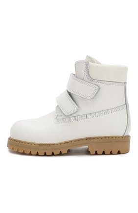 Детские кожаные ботинки с меховой отделкой GALLUCCI белого цвета, арт. J01074BM/TR S S G0M ALC/VIT | Фото 2