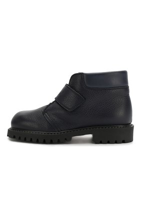 Детские кожаные ботинки с меховой отделкой GALLUCCI синего цвета, арт. J00234BM/SC S S G0M RAM/VIT | Фото 2