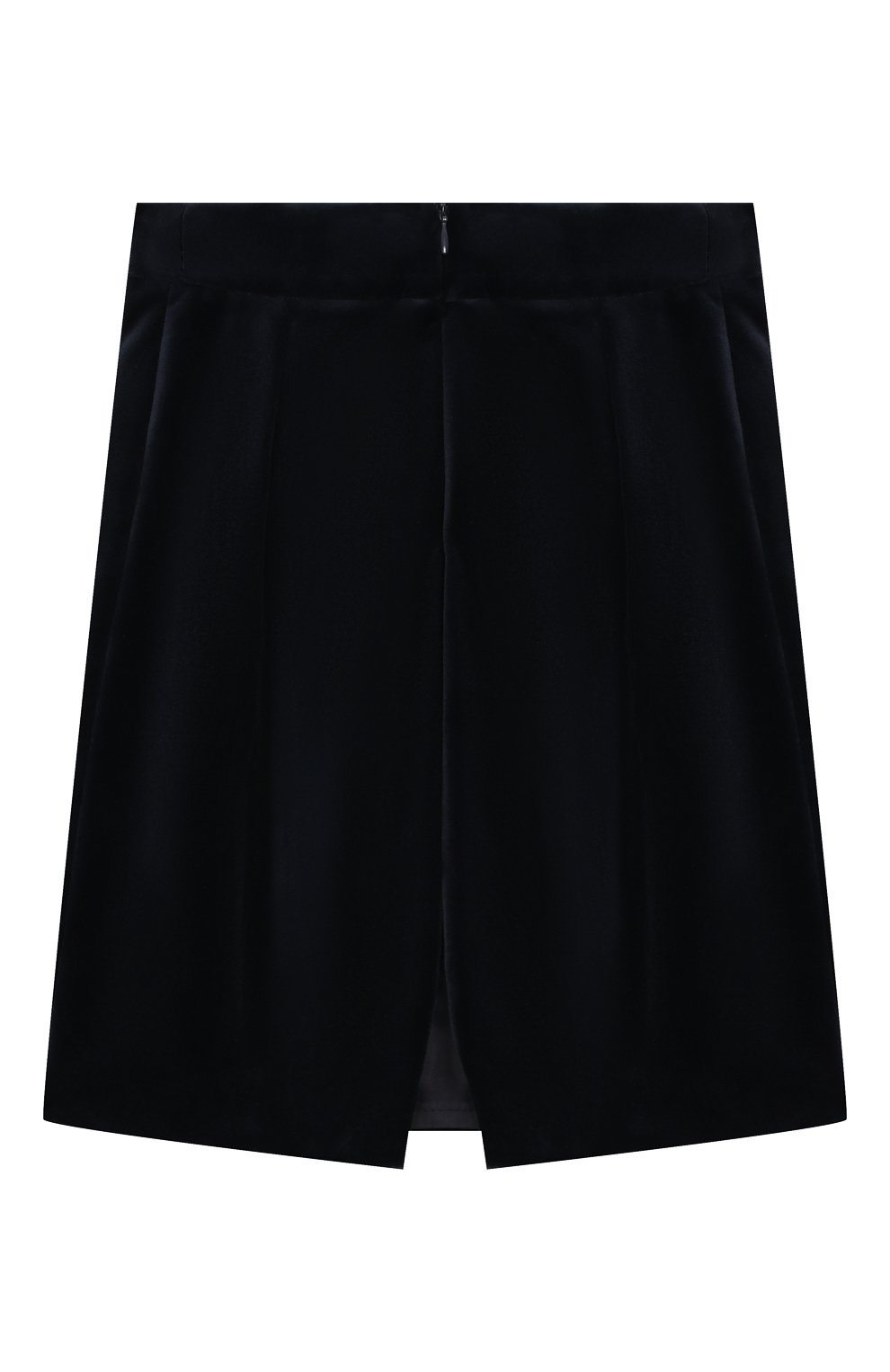 Детская бархатная юбка CAF синего цвета, арт. 53-VL-AI1819/6A-8A   Фото 2 (Случай: Повседневный; Материал внешний: Хлопок; Статус проверки: Проверено; Материал подклада: Вискоза; Ростовка одежда: 8 лет   128 см)