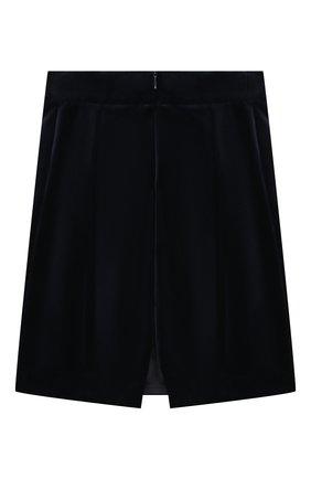 Детская бархатная юбка CAF синего цвета, арт. 53-VL-AI1819/6A-8A   Фото 2