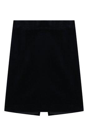 Детская бархатная юбка CAF синего цвета, арт. 53-VL-AI1819/9A-11A | Фото 1