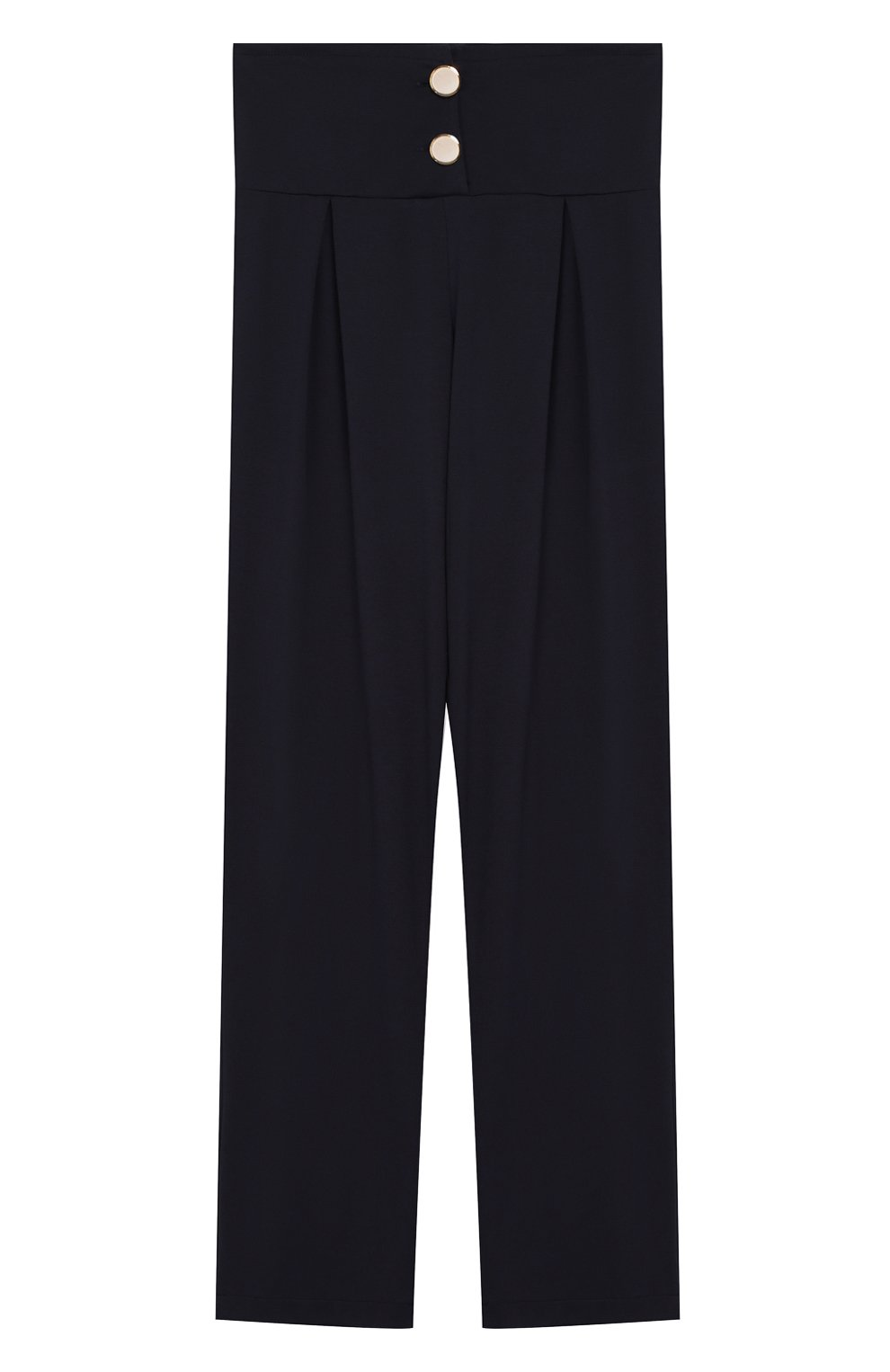 Детские брюки с защипами CAF синего цвета, арт. 51-XX-AI1920/9A-11A   Фото 1 (Девочки Кросс-КТ: Брюки-одежда; Ростовка одежда: 9 лет   134 см)
