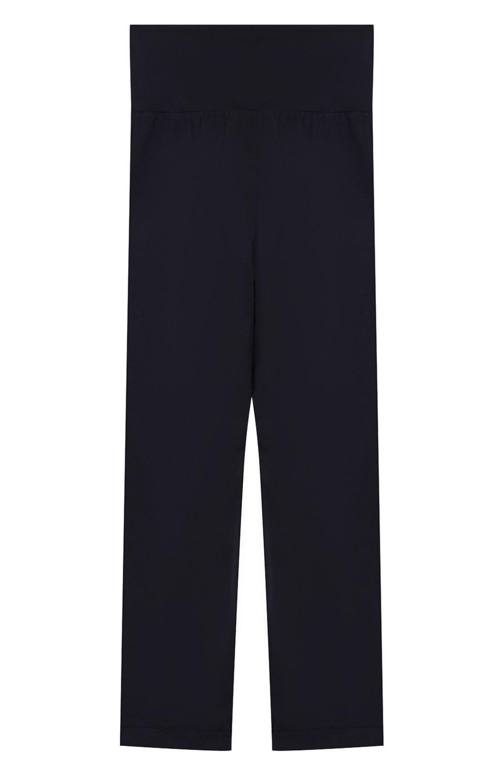 Детские брюки с защипами CAF синего цвета, арт. 51-XX-AI1920/9A-11A   Фото 2 (Девочки Кросс-КТ: Брюки-одежда; Ростовка одежда: 9 лет   134 см)