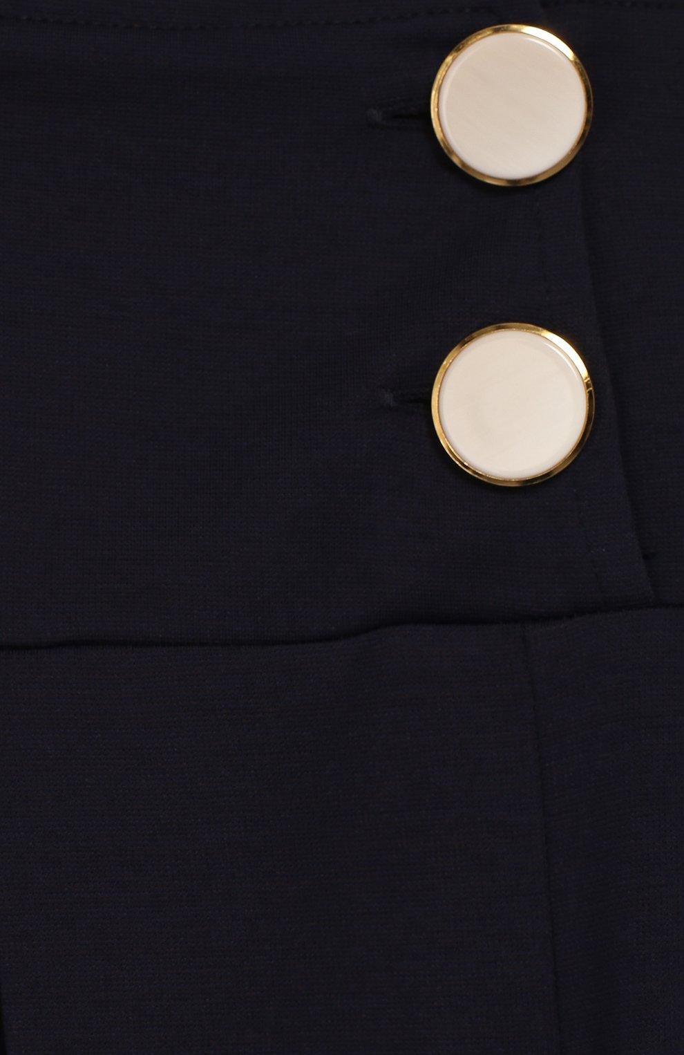 Детские брюки с защипами CAF синего цвета, арт. 51-XX-AI1920/9A-11A   Фото 3 (Девочки Кросс-КТ: Брюки-одежда; Ростовка одежда: 9 лет   134 см)
