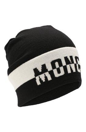Детского шерстяная шапка MONCLER ENFANT черного цвета, арт. E2-954-99240-00-A9195 | Фото 1