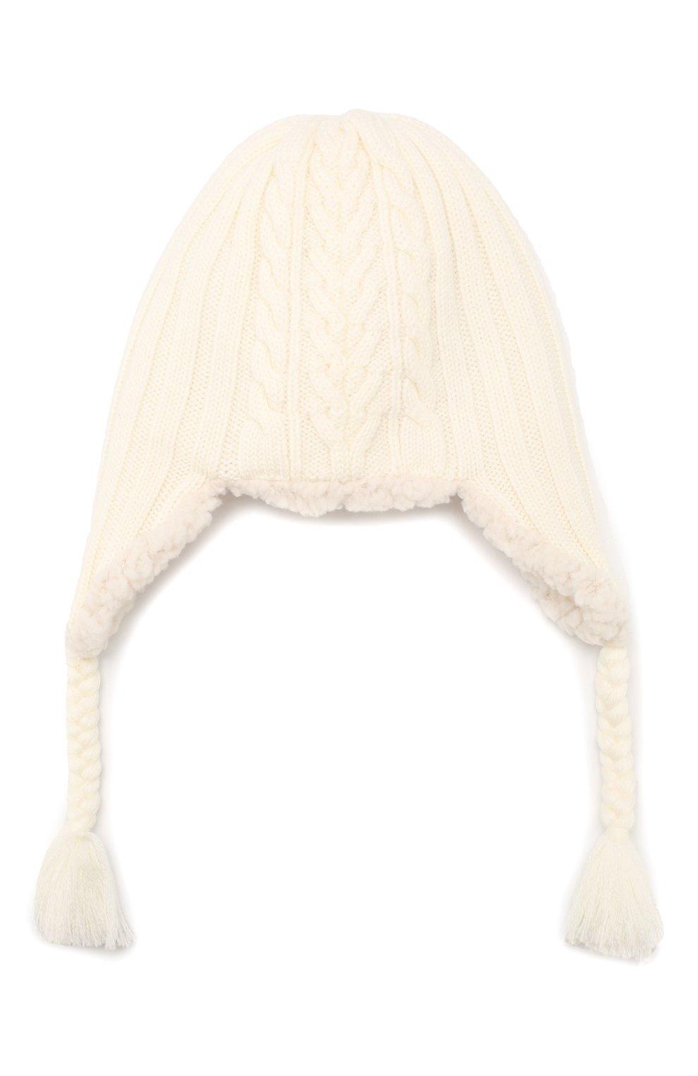 Детского шерстяная шапка MONCLER ENFANT белого цвета, арт. E2-951-99242-05-A9270 | Фото 2
