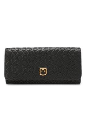 Женские кожаный кошелек FURLA черного цвета, арт. PCF5/R65 | Фото 1