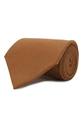Женский кашемировый галстук RALPH LAUREN коричневого цвета, арт. 434777366 | Фото 1
