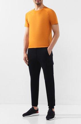 Мужские шерстяные джоггеры Z ZEGNA темно-синего цвета, арт. VT475/ZZTP18 | Фото 2 (Длина (брюки, джинсы): Стандартные; Материал внешний: Шерсть; Силуэт М (брюки): Джоггеры, Карго; Мужское Кросс-КТ: Брюки-трикотаж)