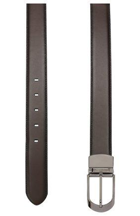 Мужской кожаный ремень ERMENEGILDO ZEGNA коричневого цвета, арт. BVAN1B/J0805B | Фото 2