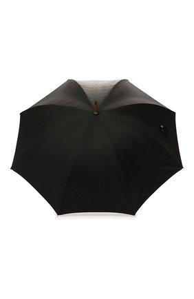 Мужской зонт-трость ERMENEGILDO ZEGNA черного цвета, арт. Z6J91/LZR | Фото 1
