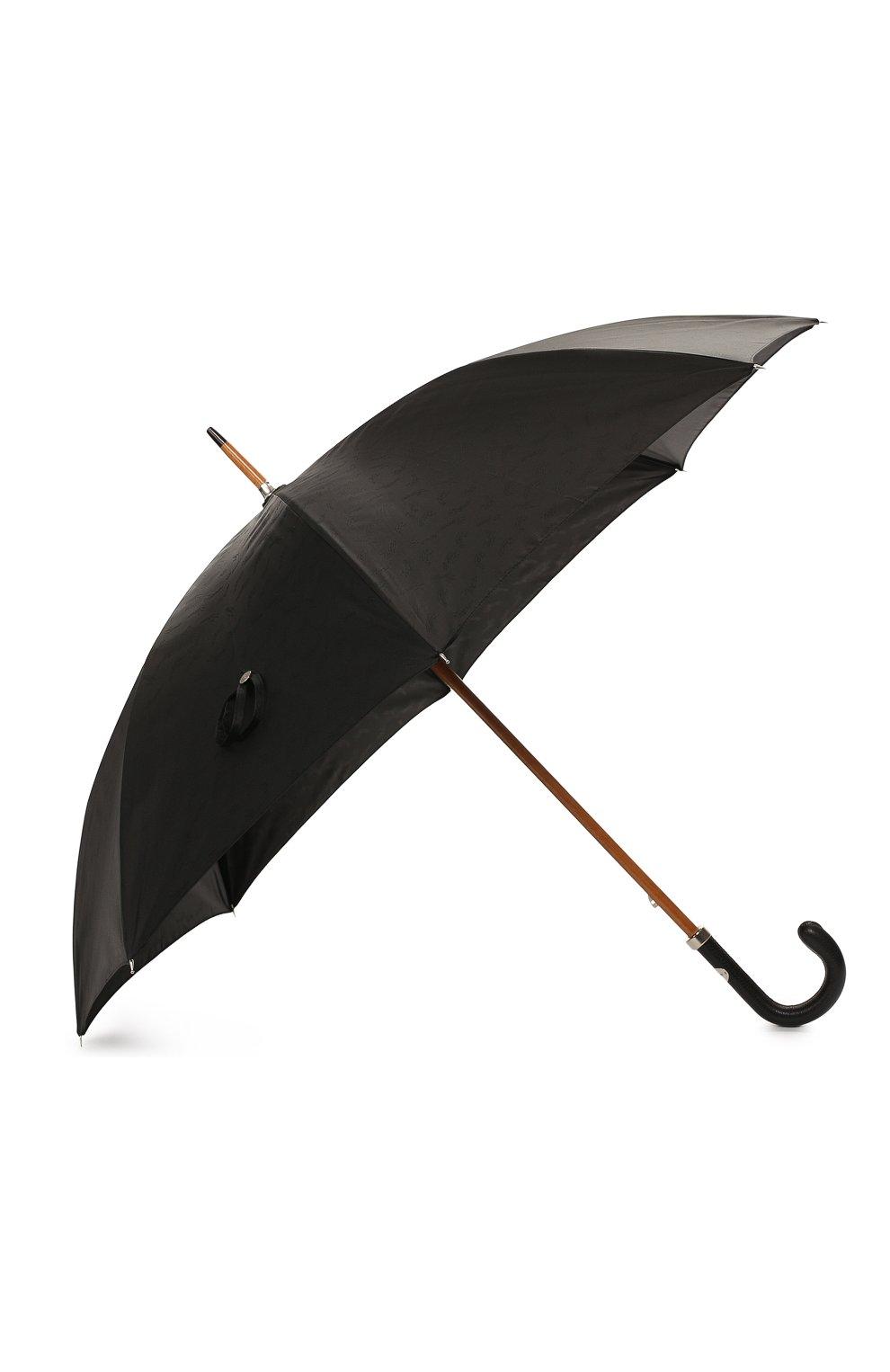 Мужской зонт-трость ERMENEGILDO ZEGNA черного цвета, арт. Z6J91/LZR | Фото 2