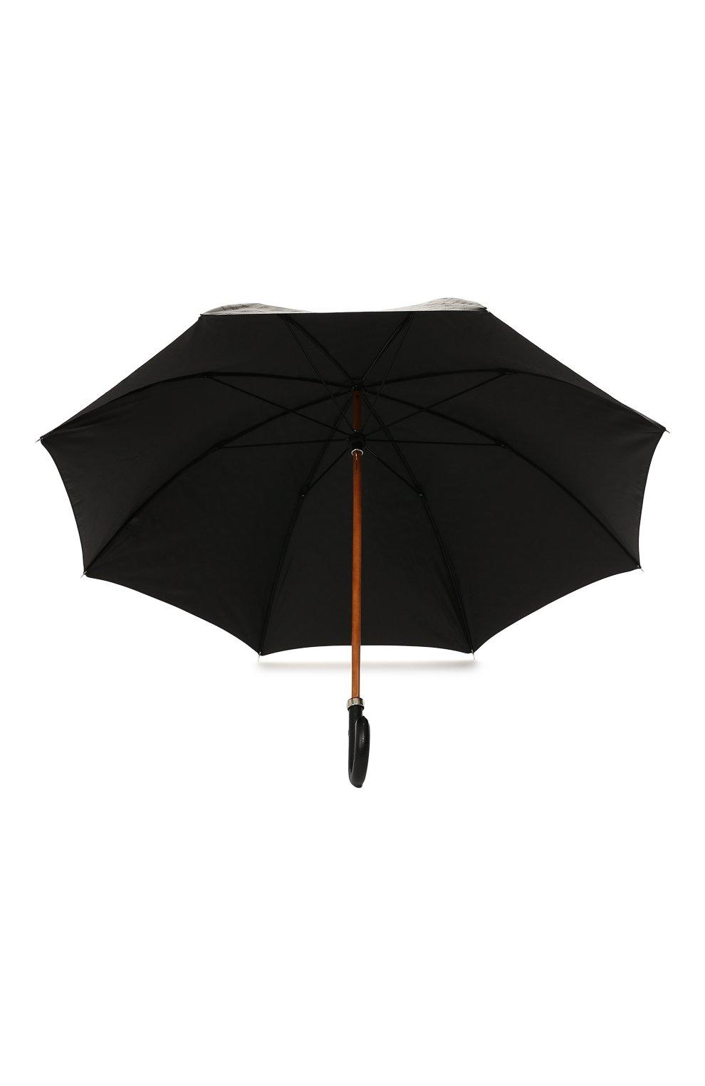 Мужской зонт-трость ERMENEGILDO ZEGNA черного цвета, арт. Z6J91/LZR | Фото 3