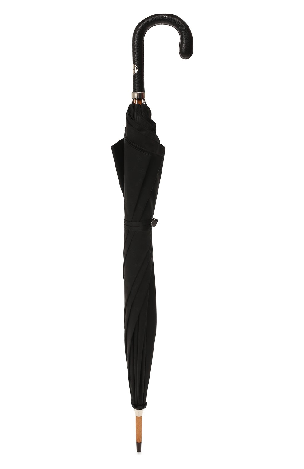 Мужской зонт-трость ERMENEGILDO ZEGNA черного цвета, арт. Z6J91/LZR | Фото 4