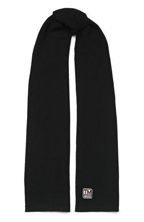 Мужской шерстяной шарф Z ZEGNA черного цвета, арт. Z6K51/2WS | Фото 1