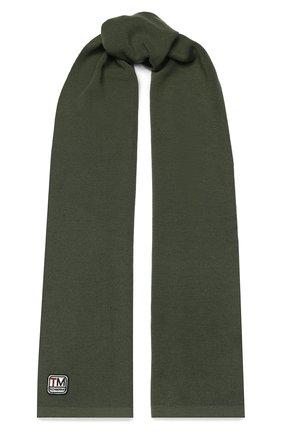 Мужской шерстяной шарф Z ZEGNA хаки цвета, арт. Z6K51/2WS | Фото 1