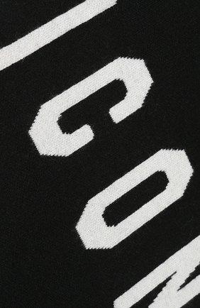 Мужской шарф из смеси шерсти и вискозы DSQUARED2 черного цвета, арт. KNM0034 01W02189   Фото 2