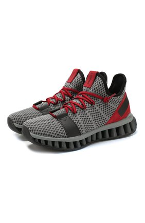 Мужские текстильные кроссовки techmerino a-maze Z ZEGNA серого цвета, арт. A4308X-LHTGS | Фото 1