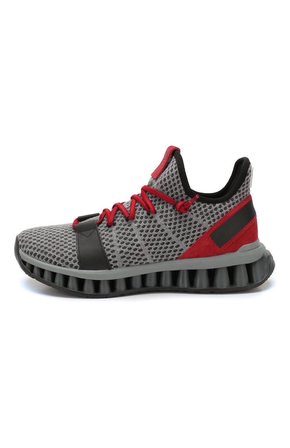 Мужские текстильные кроссовки techmerino a-maze Z ZEGNA серого цвета, арт. A4308X-LHTGS | Фото 3