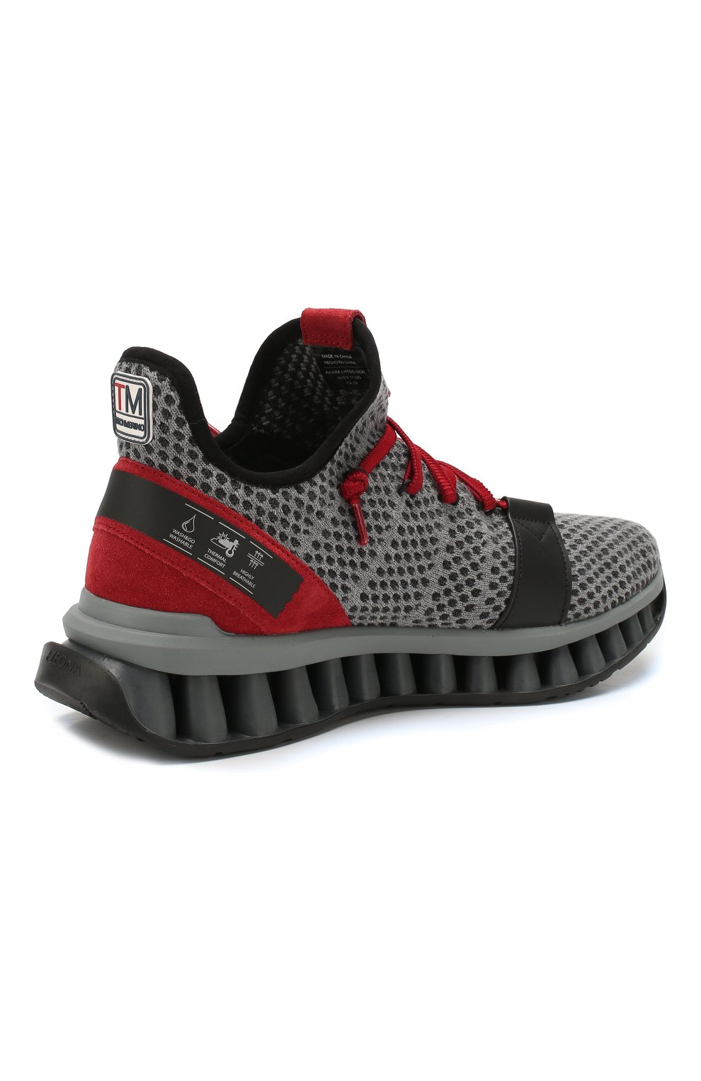 Мужские текстильные кроссовки techmerino a-maze Z ZEGNA серого цвета, арт. A4308X-LHTGS | Фото 4
