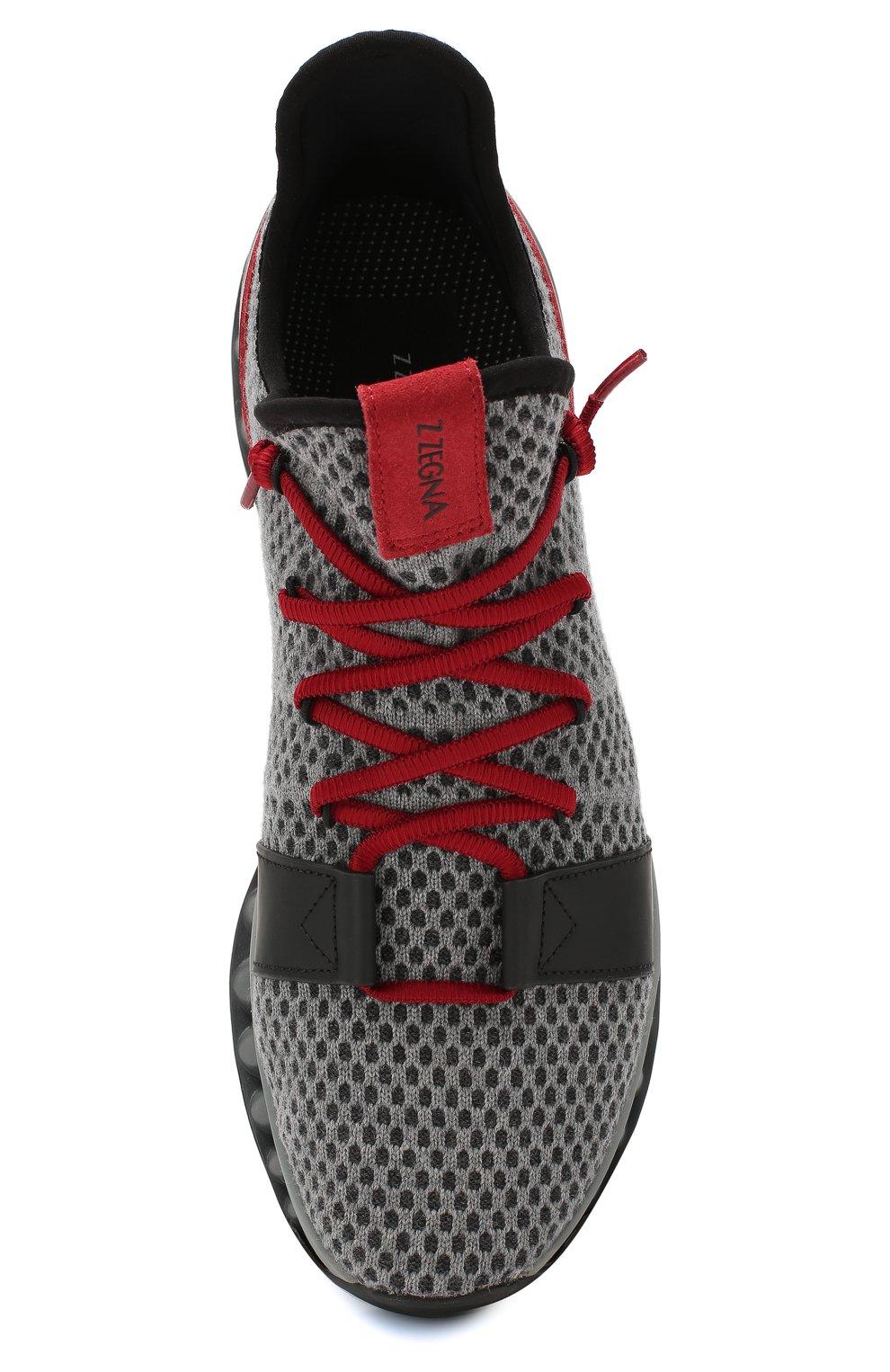 Мужские текстильные кроссовки techmerino a-maze Z ZEGNA серого цвета, арт. A4308X-LHTGS | Фото 5