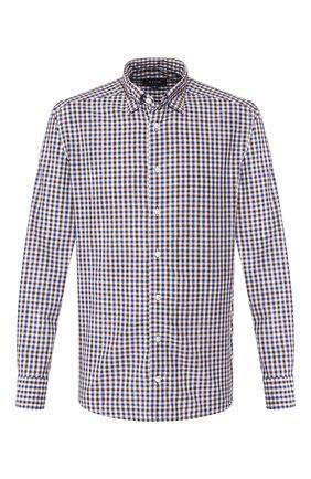 Мужская рубашка из смеси хлопка и льна ETON коричневого цвета, арт. 9506 62580 | Фото 1