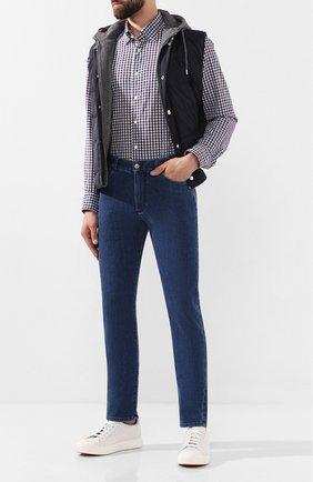 Мужская рубашка из смеси хлопка и льна ETON коричневого цвета, арт. 9506 62580 | Фото 2
