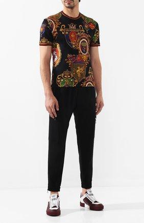 Мужские кожаные кеды miami DOLCE & GABBANA бордового цвета, арт. CS1648/AA377 | Фото 2