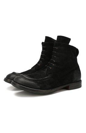 Мужские замшевые ботинки MOMA черного цвета, арт. 2CW002-BEM | Фото 1