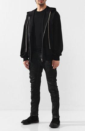 Мужские замшевые ботинки MOMA черного цвета, арт. 2CW002-BEM | Фото 2