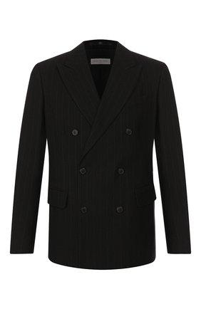 Мужской пиджак из смеси хлопка и шерсти DRIES VAN NOTEN черного цвета, арт. 192-20404-8323 | Фото 1