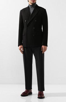 Мужской пиджак из смеси хлопка и шерсти DRIES VAN NOTEN черного цвета, арт. 192-20404-8323 | Фото 2