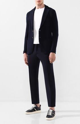 Мужской шерстяной пиджак ELEVENTY PLATINUM синего цвета, арт. 979MA0495 MAG28054   Фото 2