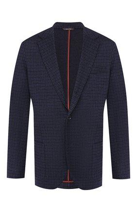 Мужской кашемировый пиджак LORO PIANA темно-синего цвета, арт. FAI7829 | Фото 1