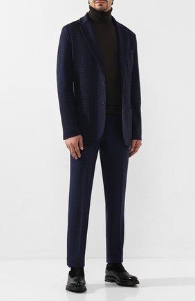 Мужской кашемировый пиджак LORO PIANA темно-синего цвета, арт. FAI7829 | Фото 2