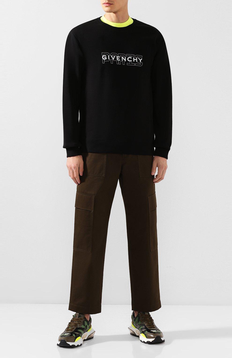 Хлопковый свитшот Givenchy черный | Фото №2