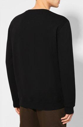 Хлопковый свитшот Givenchy черный | Фото №4