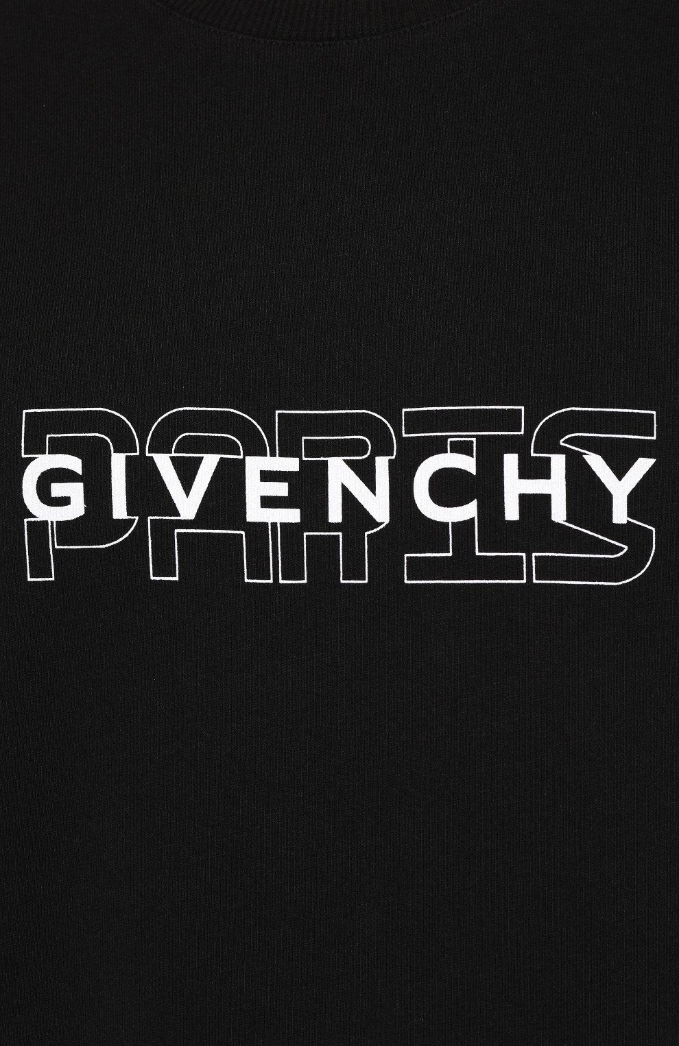Хлопковый свитшот Givenchy черный | Фото №5