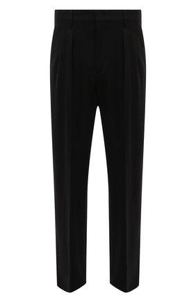 Мужской шерстяные брюки VALENTINO черного цвета, арт. SV0RGA655KW | Фото 1