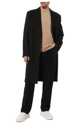Мужской шерстяные брюки VALENTINO черного цвета, арт. SV0RGA655KW | Фото 2