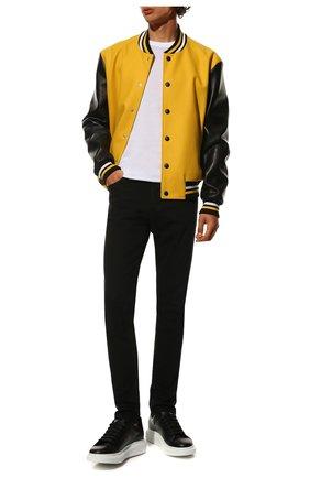 Мужские кожаные кеды ALEXANDER MCQUEEN черного цвета, арт. 553680/WHGP5 | Фото 2