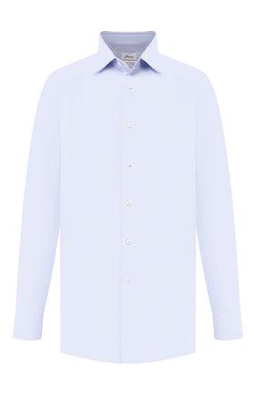 Мужская хлопковая сорочка BRIONI голубого цвета, арт. RCL41B/PZ065 | Фото 1