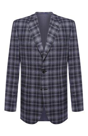 Мужской пиджак из смеси шерсти и шелка BRIONI синего цвета, арт. RGH00Q/08A7L/PARLAMENT0 | Фото 1