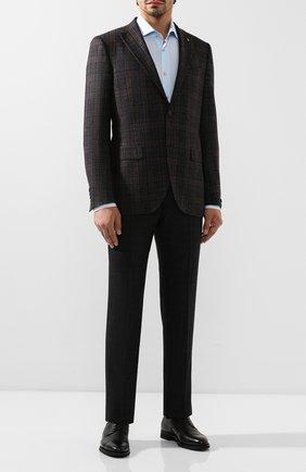 Мужской шерстяные брюки ERMENEGILDO ZEGNA черного цвета, арт. 620F03/75F812 | Фото 2