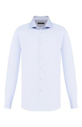 Мужская хлопковая сорочка CORNELIANI синего цвета, арт. 84P150-9811211/00 | Фото 1