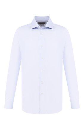 Мужская хлопковая сорочка CORNELIANI темно-синего цвета, арт. 84P100-9811269/00   Фото 1