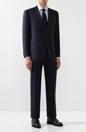 Мужская хлопковая сорочка CORNELIANI темно-синего цвета, арт. 84P100-9811269/00   Фото 2