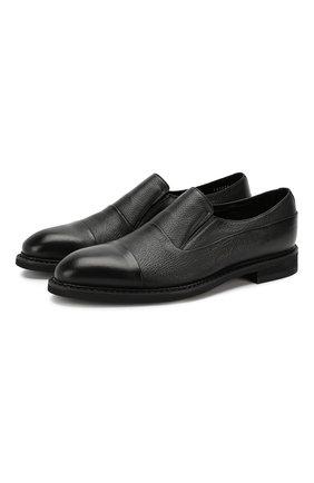Мужские кожаные лоферы BARRETT черного цвета, арт. 142U096.16/CERV0 | Фото 1