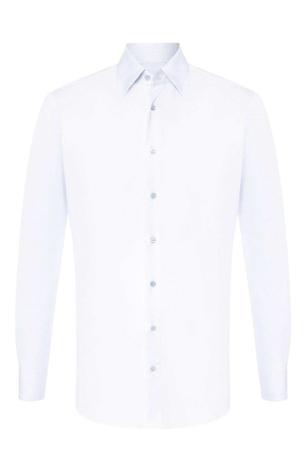 Мужская хлопковая сорочка ZILLI голубого цвета, арт. MFS-MERCU-17072/RZ01 | Фото 1